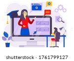 online courses vector... | Shutterstock .eps vector #1761799127