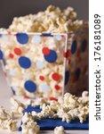 popcorn bowl | Shutterstock . vector #176181089