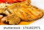Fried Pork Steak In Plate ...