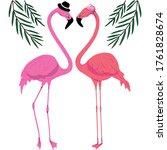 Flamingos In Love Characters...