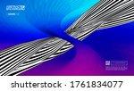 optical illusion pop art 70s... | Shutterstock .eps vector #1761834077