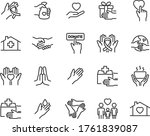 set of charity icons  donation  ... | Shutterstock .eps vector #1761839087