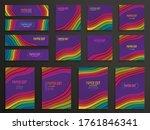 set of creative vertical...   Shutterstock .eps vector #1761846341