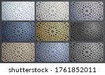 3d vector islamic pattern set... | Shutterstock .eps vector #1761852011