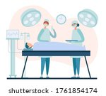 female surgeon and assistant in ...   Shutterstock .eps vector #1761854174
