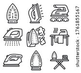 smoothing iron icons set.... | Shutterstock .eps vector #1761855167