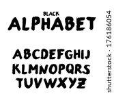 handwritten watercolor alphabet.... | Shutterstock .eps vector #176186054