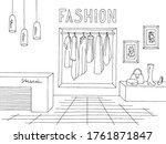 shop store interior graphic... | Shutterstock .eps vector #1761871847