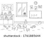 preschool classroom graphic...   Shutterstock .eps vector #1761885644