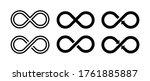 infinity sumbol. set infinity... | Shutterstock .eps vector #1761885887