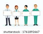 set of doctor cartoon character ... | Shutterstock .eps vector #1761892667