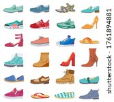 footwear collection. male and...   Shutterstock .eps vector #1761894881