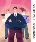 succesfull team poster... | Shutterstock .eps vector #1761931427