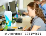 business people at work place   Shutterstock . vector #176194691