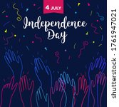 happy 4th of july vector...   Shutterstock .eps vector #1761947021
