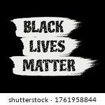 black lives matter sign. black...   Shutterstock .eps vector #1761958844