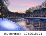 A Winter Day And Frozen Canal...