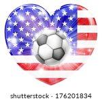 america soccer football ball...   Shutterstock .eps vector #176201834