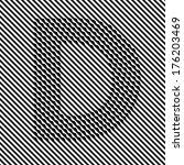 letter d   optical  illusion... | Shutterstock .eps vector #176203469
