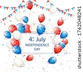 text independence day 4th of... | Shutterstock .eps vector #1762048241