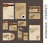 business cards collection with... | Shutterstock . vector #176205671
