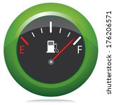 round green button with fuel... | Shutterstock . vector #176206571