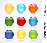 glossy  round buttons for icons | Shutterstock .eps vector #176209661