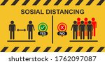 social distancing icon. keep... | Shutterstock .eps vector #1762097087
