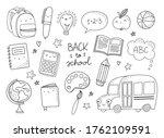 cute school objects  icons set. ... | Shutterstock .eps vector #1762109591