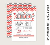 bridal shower card | Shutterstock .eps vector #176211485