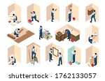 apartment repair renovation... | Shutterstock .eps vector #1762133057