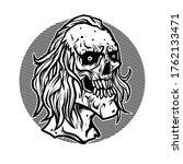 vector illustration of creepy... | Shutterstock .eps vector #1762133471