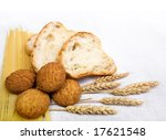 bread composition with grain on ... | Shutterstock . vector #17621548