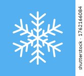 white snowflake icon isolated...   Shutterstock . vector #1762166084