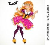 little girl in masquerade suit | Shutterstock . vector #176216885