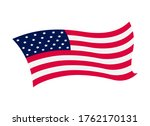 waving flag of the united... | Shutterstock . vector #1762170131