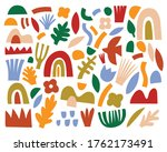 set of colorful simple abstract ... | Shutterstock .eps vector #1762173491