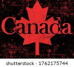 flag of canada . a canadian... | Shutterstock .eps vector #1762175744