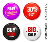 realistic badges with text.... | Shutterstock .eps vector #1762195577