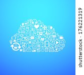 computer cloud icon  concept... | Shutterstock .eps vector #176221319