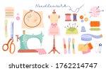 Large Set Of Needlework Icons...