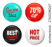 realistic badges with text.... | Shutterstock .eps vector #1762238267