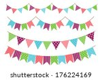 garland decoration | Shutterstock . vector #176224169