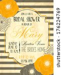 bridal shower card   Shutterstock .eps vector #176224769