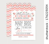 bridal shower card | Shutterstock .eps vector #176225054