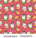food and beverage seamless... | Shutterstock . vector #176226071