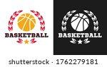 basketball logo  badge or label ... | Shutterstock .eps vector #1762279181