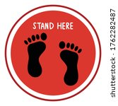 footprint floor sticker. social ...   Shutterstock .eps vector #1762282487