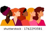 multi ethnic women. a group of... | Shutterstock .eps vector #1762293581