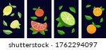 modern set of 4 blue... | Shutterstock .eps vector #1762294097